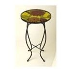 Evergreen Group -  Autumn Posey Round Glass Table 0746851623479