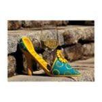 Evergreen Group -  Sunflower Scape High Heel Bottle Holder 0746851625831