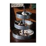 Evergreen Group -  3-Tiered Galvanized Metal Tray 0746851639890