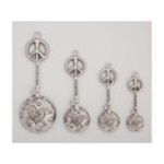 Evergreen Group -  Peace Signs Metal Measuring Spoons 0746851667879
