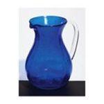Evergreen Group -  Dark Blue Bubble Glass Pitcher 0746851668371