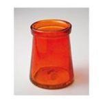 Evergreen Group -  Orange Bubble Glass Candle Holder 0746851672552