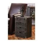 Evergreen Group -  3-Drawer Metal Side Table 0746851682636