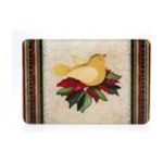 Evergreen Group -  Boughs of Holly Large Glass Cutting Board 0746851718700