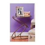 Evergreen Group -  Metal and Glass Side Table 0746851766152