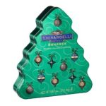 Ghirardelli -  Chocolate Squares Assortment Holiday Tree Tins 0747599333118