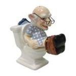 Westland Giftware -  Coot Toilet Salt & Pepper Shakers Set 0748787126918