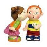 Westland Giftware -  Cute Couple Kissing Kids Salt & Pepper Shaker S/P 0748787934520