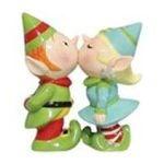 Westland Giftware -  Kissing Holiday Elves Salt & Pepper Shakers S/P Set 0748787934575