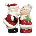 Westland Giftware -  Kissing Santa Mrs. Claus Salt & Pepper Shakers S/P 0748787934599