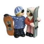 Westland Giftware -  Snowboarder and Skier Couple S/P Salt & Pepper Shaker Set 0748787939167