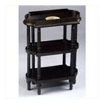 Antique Reproductions, Inc. -  Three Tier Tray Accent Table in Black 0750457006260