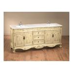 "Antique Reproductions, Inc. -  AA Importing | AA Importing 80066 72.5"" Double Vanity Sink in Distressed Antique Ivory 0750457011738"