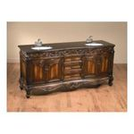 "Antique Reproductions, Inc. -  AA Importing | AA Importing 80067 72.5"" Double Vanity Sink in Distressed Brown 0750457011745"
