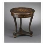 Antique Reproductions, Inc. -  Round Vintage Inspired Lamp Table with Gold Floral Design 0750457013404
