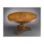 Antique Reproductions, Inc. -  54 Round Dining Table in Medium Brown 0750457025209