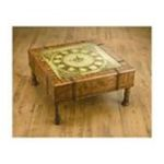Antique Reproductions, Inc. -  Square Clock Coffee Table in Medium Brown 0750457025223