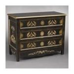 Antique Reproductions, Inc. -  Three Drawer Chest in Black 0750457028545