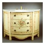 "Antique Reproductions, Inc. -  AA Importing | 47.5"" Curved Vanity with Sink in Antique Ivory 0750457030586"
