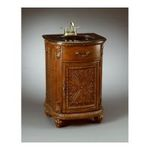 Antique Reproductions, Inc. -  AA Importing | Carved One Door Vanity in Medium Brown 0750457031095