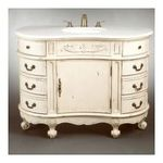 "Antique Reproductions, Inc. -  AA Importing | AA Importing 46447 48"" Vanity in Distressed Antique White 0750457031705"