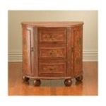Antique Reproductions, Inc. -  Three Drawer Two Side Door Console Cabinet in Distressed Brown 0750457038896