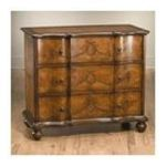 Antique Reproductions, Inc. -  Three Drawer Cabinet with Antique Gold Leaf Design in Medium Brown 0750457045214