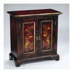 Antique Reproductions, Inc. -  AA Importing | AA Importing Cabinet in Black/Red 80042 0750457076980