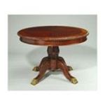 Antique Reproductions, Inc. -  44 Round Dining Table in Red/Mahogany 0750457381558