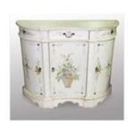 Antique Reproductions, Inc. -  Hall Cabinet in Antique Ivory 0750457404486