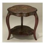 Antique Reproductions, Inc. -  Lamp Table with Painted Floral in Dark Red 0750457454481