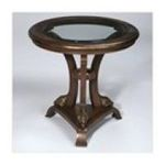 Antique Reproductions, Inc. -  Round Table with Gold Accents in Dark Brown 0750457455075