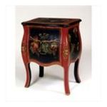 Antique Reproductions, Inc. -  Two Drawer End Table Fruit Design in Red and Black 0750457457291