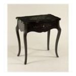 Antique Reproductions, Inc. -  Single Drawer Lamp Table in Black 0750457458496