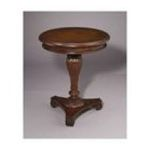 Antique Reproductions, Inc. -  Round Lamp Table in Medium Brown 0750457462585