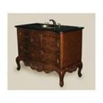 Antique Reproductions, Inc. -  Bathroom Vanity with Black Sink and Black Granite Top  in Brown 0750457464022