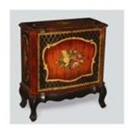 Antique Reproductions, Inc. -  Console Cabinet in Black/Burnt Orange 0750457467061