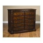 Antique Reproductions, Inc. -  Two Drawer Bar Cabinet in Dark Brown 0750457474564