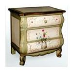Antique Reproductions, Inc. -  3 Drawer Nightstand - Finish: Ivory 0750457475806