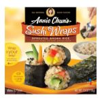 Annie chun's - Sushi Wraps Sprouted Brown Rice 0765667400401  / UPC 765667400401