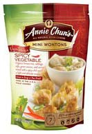 Annie chun's - Spicy Vegetable Mini Wontons 0765667900604  / UPC 765667900604