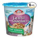 Dr. Mc Dougall -  Dr. Mcdougall's Right Foods Vegan Lentil Couscous Soup Lower Sodium Cups 0767335000838