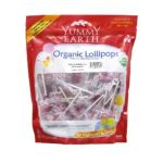 Yummy Earth -  Organic Lollipops Strawberry Smash 50 + Pops Bags 1 lb 0810165010697