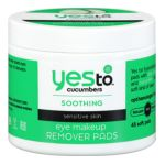 Yes to Carrots -  Cucumbers Soothing Eye Makeup Remover Pads For Sensitive Skin 0813866019761