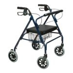 Drive medical -  Lite Bariatric Steel Rollator With Padded Seat And Hes Casters With Loop Locks Blue 400 lb 0822383100647