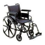 Drive medical -  Viper Plus Gt Wheelchair With Flip Back Adjustable Height Arms With Various Front Rigging Seat Size 22 Arm Style Flip Back Removable Desk Arms Front Rigging Elevating Leg Rest 22 in 0822383230535