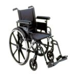 Drive medical -  Aluminum Viper Plus Gt Wheelchair Size 22 Arms Flip Back Removable Adjustable Height Full Arms Legrests Elevating Legrests 22 in 0822383230542