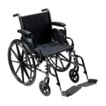 Drive medical -  K316dfa-sf Cruiser Iii Light Weight Wheelchair With Various Flip Back Arm Styles And Front Rigging Options Steel black 16 in 0822383333854