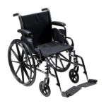 Drive medical -  K318dfa-sf Cruiser Iii Light Weight Wheelchair With Various Flip Back Arm Styles And Front Rigging Options Steel black 18 in 0822383333878