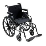 Drive medical -  K320dfa-elr Cruiser Iii Light Weight Wheelchair With Various Flip Back Arm Styles And Front Rigging Options Steel black 20 in 0822383333908